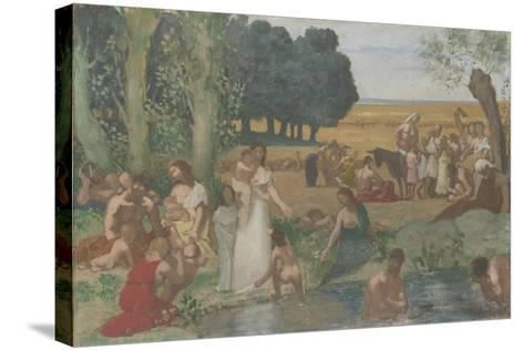 Summer, before 1873-Pierre C?cil Puvis de Chavannes-Stretched Canvas Print