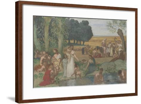 Summer, before 1873-Pierre C?cil Puvis de Chavannes-Framed Art Print