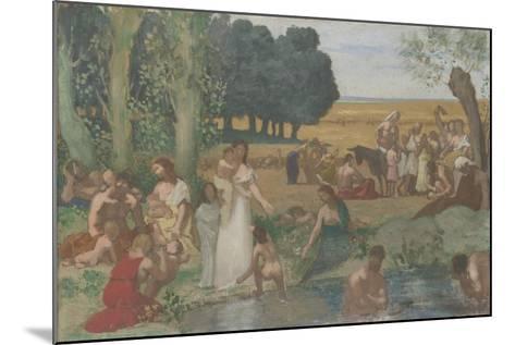 Summer, before 1873-Pierre C?cil Puvis de Chavannes-Mounted Giclee Print