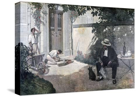 The Good Bourgeois, 1893-Henri Brispot-Stretched Canvas Print