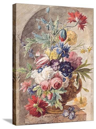 Flower Still Life, Ca 1734-Jan Van Der Heyden-Stretched Canvas Print
