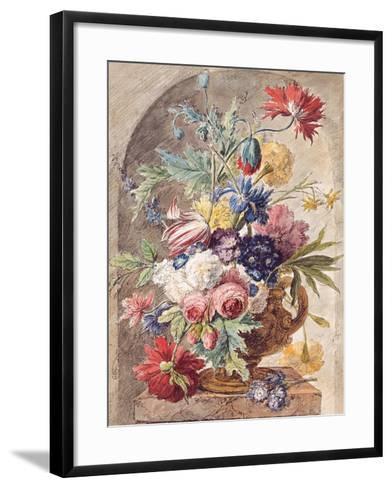 Flower Still Life, Ca 1734-Jan Van Der Heyden-Framed Art Print