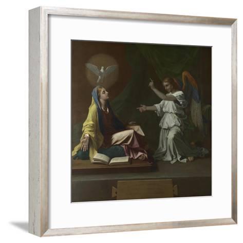The Annunciation, 1657-Nicolas Poussin-Framed Art Print