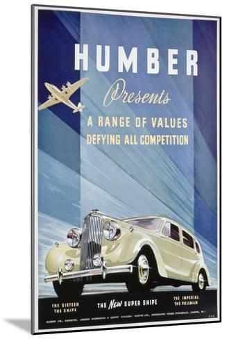 Advert for Humber Motor Cars, 1938--Mounted Giclee Print
