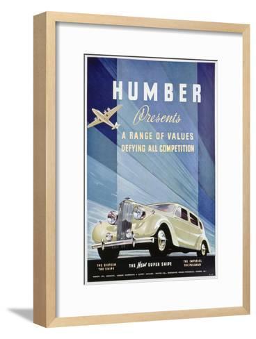 Advert for Humber Motor Cars, 1938--Framed Art Print
