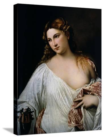 Flora, Ca 1515-Titian (Tiziano Vecelli)-Stretched Canvas Print