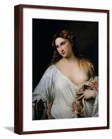 Flora, Ca 1515-Titian (Tiziano Vecelli)-Framed Art Print