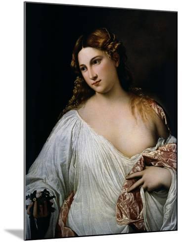 Flora, Ca 1515-Titian (Tiziano Vecelli)-Mounted Giclee Print
