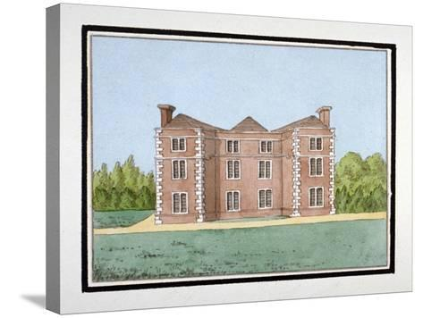 Lee Place Which Stood on the North Side of Old Road, Lewisham, London, C1795--Stretched Canvas Print