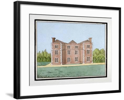 Lee Place Which Stood on the North Side of Old Road, Lewisham, London, C1795--Framed Art Print