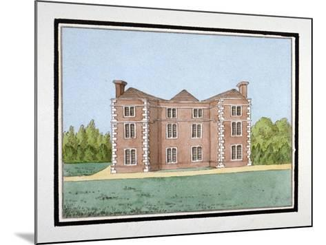 Lee Place Which Stood on the North Side of Old Road, Lewisham, London, C1795--Mounted Giclee Print