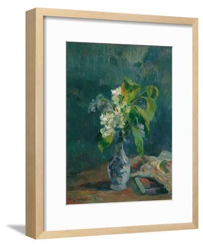 Lilacs, 1885-Paul Gauguin-Framed Art Print