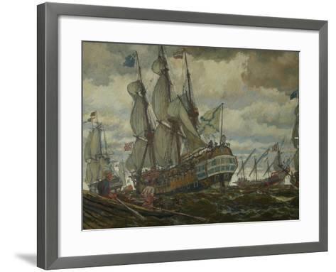 The Fleet of Peter I, 1909-Evgeny Evgenyevich Lanceray-Framed Art Print