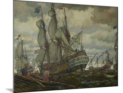The Fleet of Peter I, 1909-Evgeny Evgenyevich Lanceray-Mounted Giclee Print
