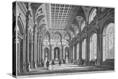 Interior View of the Clothworkers' Hall, Mincing Lane, City of London, 1856-Samuel Angell-Stretched Canvas Print