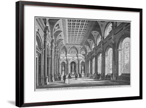 Interior View of the Clothworkers' Hall, Mincing Lane, City of London, 1856-Samuel Angell-Framed Art Print