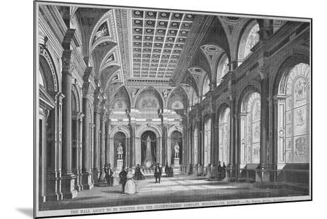 Interior View of the Clothworkers' Hall, Mincing Lane, City of London, 1856-Samuel Angell-Mounted Giclee Print