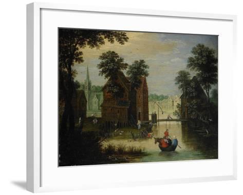 River Landscape with the Flight into Egypt, 1616-Maerten Ryckaert-Framed Art Print