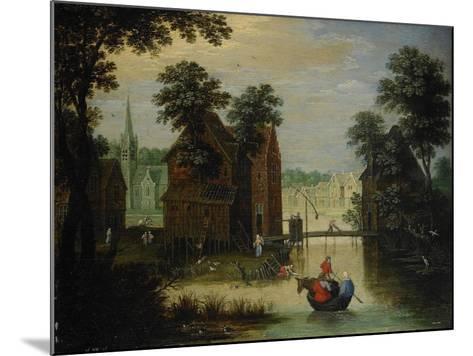 River Landscape with the Flight into Egypt, 1616-Maerten Ryckaert-Mounted Giclee Print