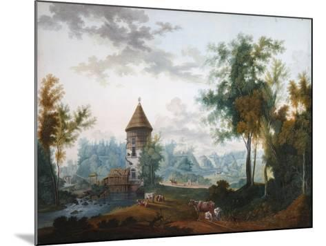 Mill and Pil Tower in Pavlovsk Park, before 1797-Semyon Fyodorovich Shchedrin-Mounted Giclee Print