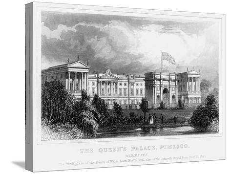 The Queen's Palace, Pimlico, London, C1840s--Stretched Canvas Print