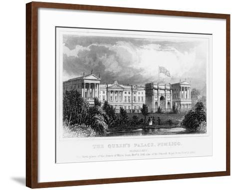 The Queen's Palace, Pimlico, London, C1840s--Framed Art Print