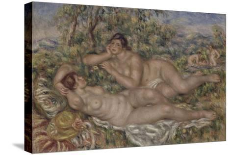 The Bathers, 1918-1919-Pierre-Auguste Renoir-Stretched Canvas Print