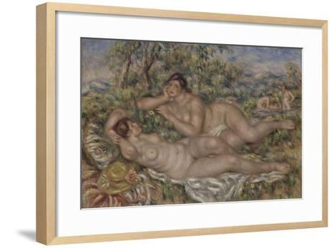 The Bathers, 1918-1919-Pierre-Auguste Renoir-Framed Art Print