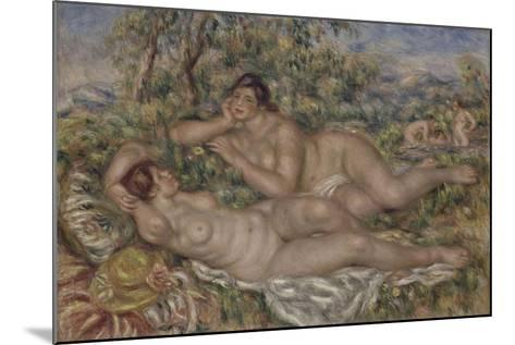 The Bathers, 1918-1919-Pierre-Auguste Renoir-Mounted Giclee Print