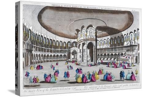Interior View of the Rotunda in Ranelagh Gardens, Chelsea, London, C1760--Stretched Canvas Print