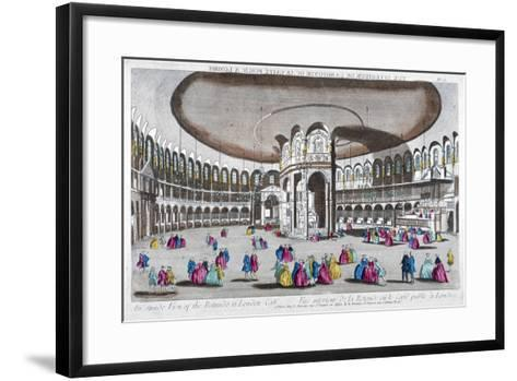 Interior View of the Rotunda in Ranelagh Gardens, Chelsea, London, C1760--Framed Art Print