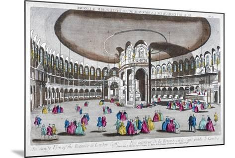 Interior View of the Rotunda in Ranelagh Gardens, Chelsea, London, C1760--Mounted Giclee Print