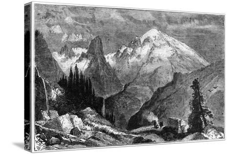 Mount Shasta, Northern Peak of the Sierra Nevada, California, USA, C1870--Stretched Canvas Print