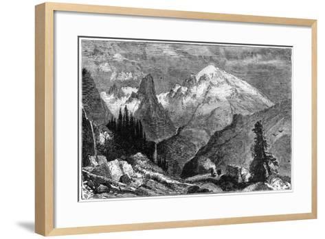 Mount Shasta, Northern Peak of the Sierra Nevada, California, USA, C1870--Framed Art Print