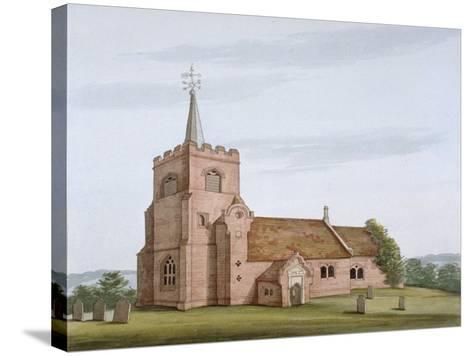 South-West View of the Church of St Michael, Theydon Mount, Essex, C1800--Stretched Canvas Print