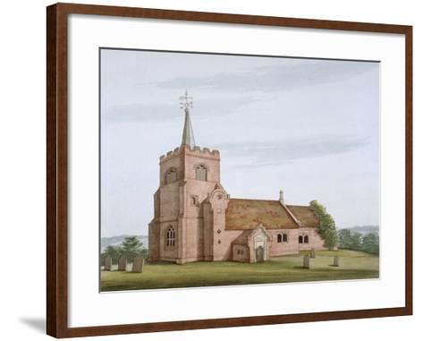 South-West View of the Church of St Michael, Theydon Mount, Essex, C1800--Framed Art Print