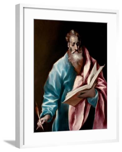 Saint Matthew the Evangelist-El Greco-Framed Art Print