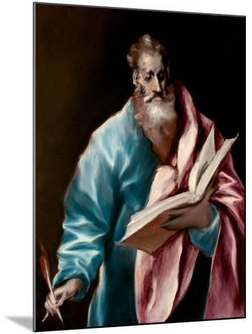 Saint Matthew the Evangelist-El Greco-Mounted Giclee Print