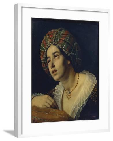 A Turkish Woman-Yakov Fyodorovich Kapkov-Framed Art Print