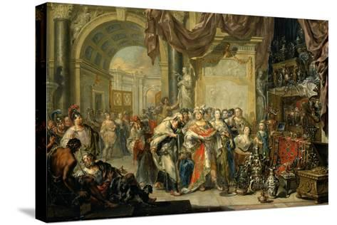 Croesus and Solon-Johann Georg Platzer-Stretched Canvas Print