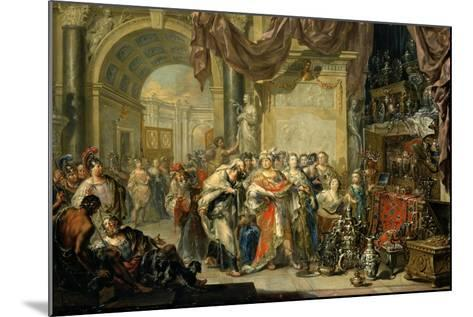 Croesus and Solon-Johann Georg Platzer-Mounted Giclee Print