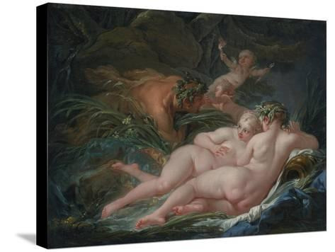 Pan and Syrinx, 1759-Fran?ois Boucher-Stretched Canvas Print