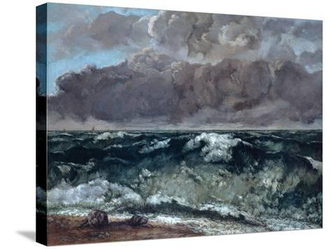 The Wave, 1867-1869-Gustave Courbet-Stretched Canvas Print