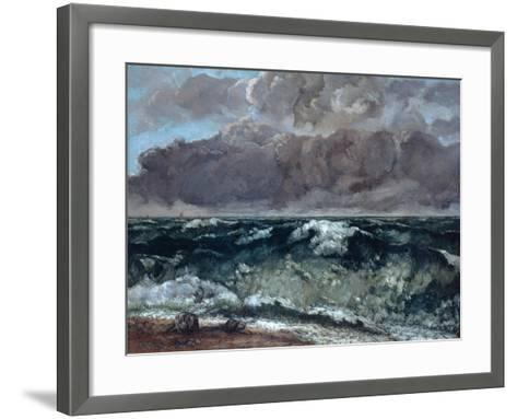 The Wave, 1867-1869-Gustave Courbet-Framed Art Print