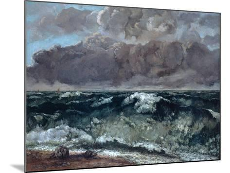 The Wave, 1867-1869-Gustave Courbet-Mounted Giclee Print