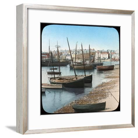 Fishing Fleet, St Ives, Cornwall, Late 19th or Early 20th Century--Framed Art Print