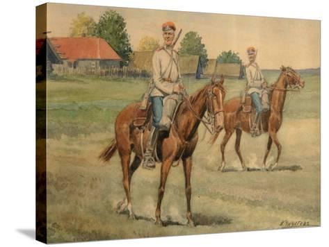 Cossacks-Konstantin Nikolayevich Chichagov-Stretched Canvas Print
