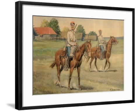 Cossacks-Konstantin Nikolayevich Chichagov-Framed Art Print