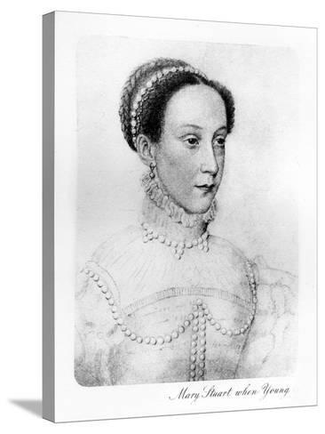 Mary Stuart When Young--Stretched Canvas Print