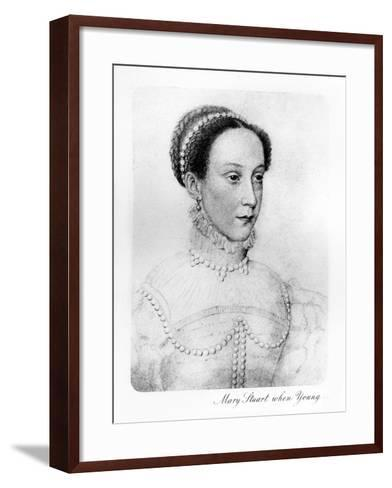 Mary Stuart When Young--Framed Art Print